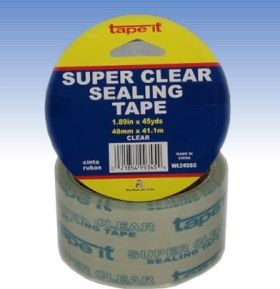 """1.89"""" x 45yds Super Clear Singles (Case of 36)"""