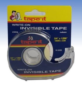".71"" x 1296"" Invisible Tape w/dispenser (Case of 144)"