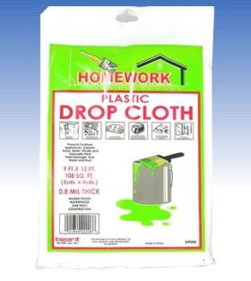9ft x 12ft Drop Cloth 0.8 Mil (Case of 48)