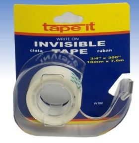 ".71"" x 300"" Invisible Tape w/dispenser Card (Case of 144)"