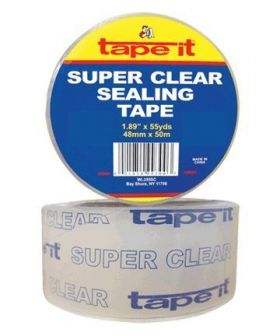 """1.89"""" x 55yds Super Clear Singles (Case of 36)"""