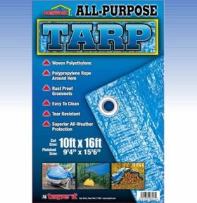 8ft x 12ft- All Purpose Tarp 75gsm (Case of 20)
