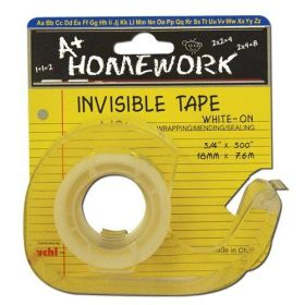 ".71"" x 300"" Invisible Tape w/dispenser Card (Homerwork) (Case of 144)"