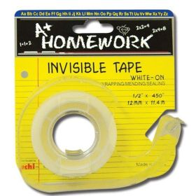 ".47"" x 450"" Invisible Tape w/dispenser Card (Homework) (Case of 144)"