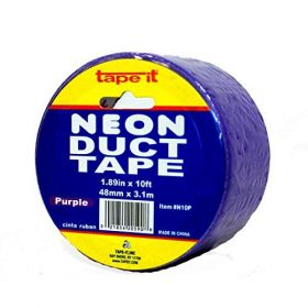 "1.89""x10yds Neon Purple Duct Tape (Case of 54)"