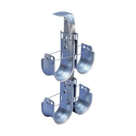 """CADDY CAT HP J-Hook Tree, Ceiling Mount, Double Sided, 2"""" dia, 2 Tier (Pack of 5)"""