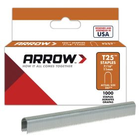 "T25 Arrow Staples 7/16"" (11mm) (Pack of 1000)"