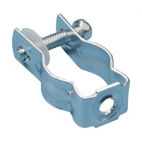 """Bolt Close Conduit/Pipe Clamp, S302, 1 1/4"""" EMT, 1/4"""" Hole (Pack of 100)"""