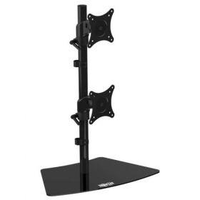 Dual Vertical Flat-Screen Desk Stand/Clamp Mount, 15 in. to 27 in. Flat-Screen Displays