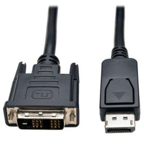 DisplayPort to DVI-D Cable Adapter, Single-Link Adapter with Latches (M/M), 6 ft.
