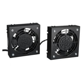 SmartRack Wall-Mount Roof Fan Kit - 2-120V high-performance fans; 210 CFM; 5-15P plug
