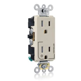 Leviton Tdr15-S1T Light Almond Tr Receptacle With 1 Plug Ct