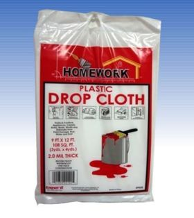 9ft x 12ft Drop Cloth 2 Mil (Case of 48)
