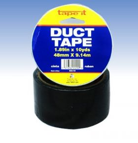 "1.89""x10yds Black Duct Tape (Case of 54)"