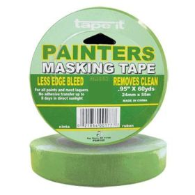 ".94"" x 60yds Green Painter's Masking Tape (Case of 36)"