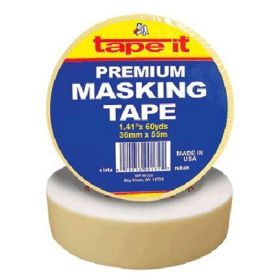"1.41"" x 60yds Premium Masking Tape (Case of 24)"
