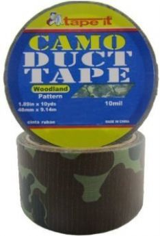 """1.89""""x10yds Woodland Camo Duct Tape (Case of 54)"""