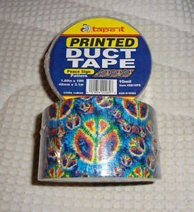 "1.89""x10yds Peace Sign Duct Tape (Case of 54)"