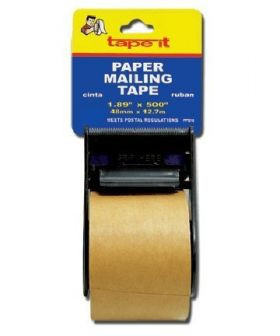 "1.89"" x 500"" Paper Mailing Tape Tan  (18 Rolls, Case of 72)"