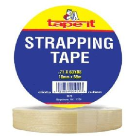 "3/4"" x 60yds Strapping Tape WL (Case of 48)"
