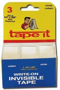 ".71"" x 300"" Invisible Tape 3pk (Case of 144)"
