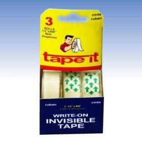 ".47"" x 400"" Invisible Tape 3pk (Case of 144)"