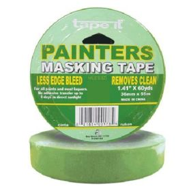 "1.41"" x 60yds Green Painter's Masking Tape (Case of 24)"