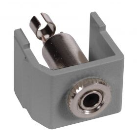 SNAP-FIT, KEYSTONE,3.5MM STEREO,SDR,GY