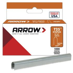 "T25 Arrow Staples 9/16"" (14mm) (Pack of 1000)"