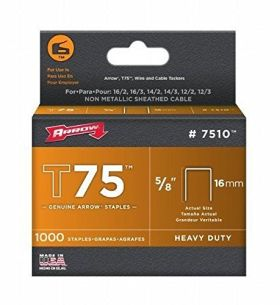 "T75 Arrow Staples 5/8"" (16mm) (Pack of 1000)"