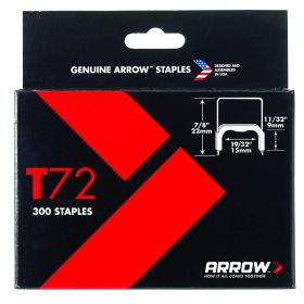 "T72 Arrow Staples 1/2"" (Pack of 300)"