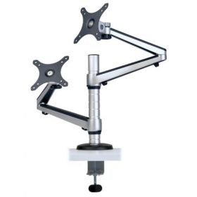 "Dual Full Motion Flex Arm Desk Clamp for 13"" to 27"" Monitors"
