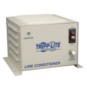 600W 120V Wall-Mount Power Conditioner with Automatic Voltage Regulation (AVR), AC Surge Protection, 4 Outlets