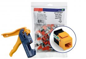 Leviton Data/Voice Jack, Gigamax Cat5e Quickport, Yellow, 150 pack