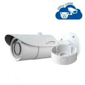 4MP H.265 Bullet IP  Camera with Junction Box,  3.3-12mm motorized lens, White Housing
