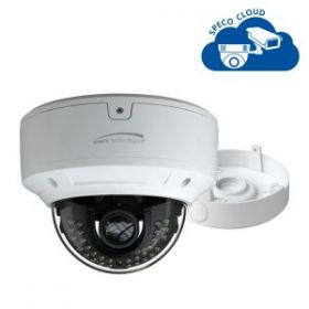 4MP H.265 Dome IP Camera with Junction Box, 3.3-12mm motorized lens, White Housing