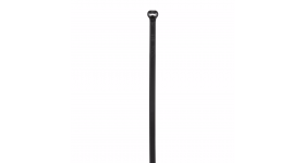 """Dome-Top® barb ty cable tie,intermediate cross section,6.1"""" (155mm) length,weather resistant nylon 6.6,black,(Package of 100)"""