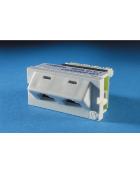 SERIES II, TWO-PORT CATEGORY 5E, T568A, 45 DEGREE, FOG WHITE