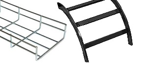 ladder rack section and cable tray