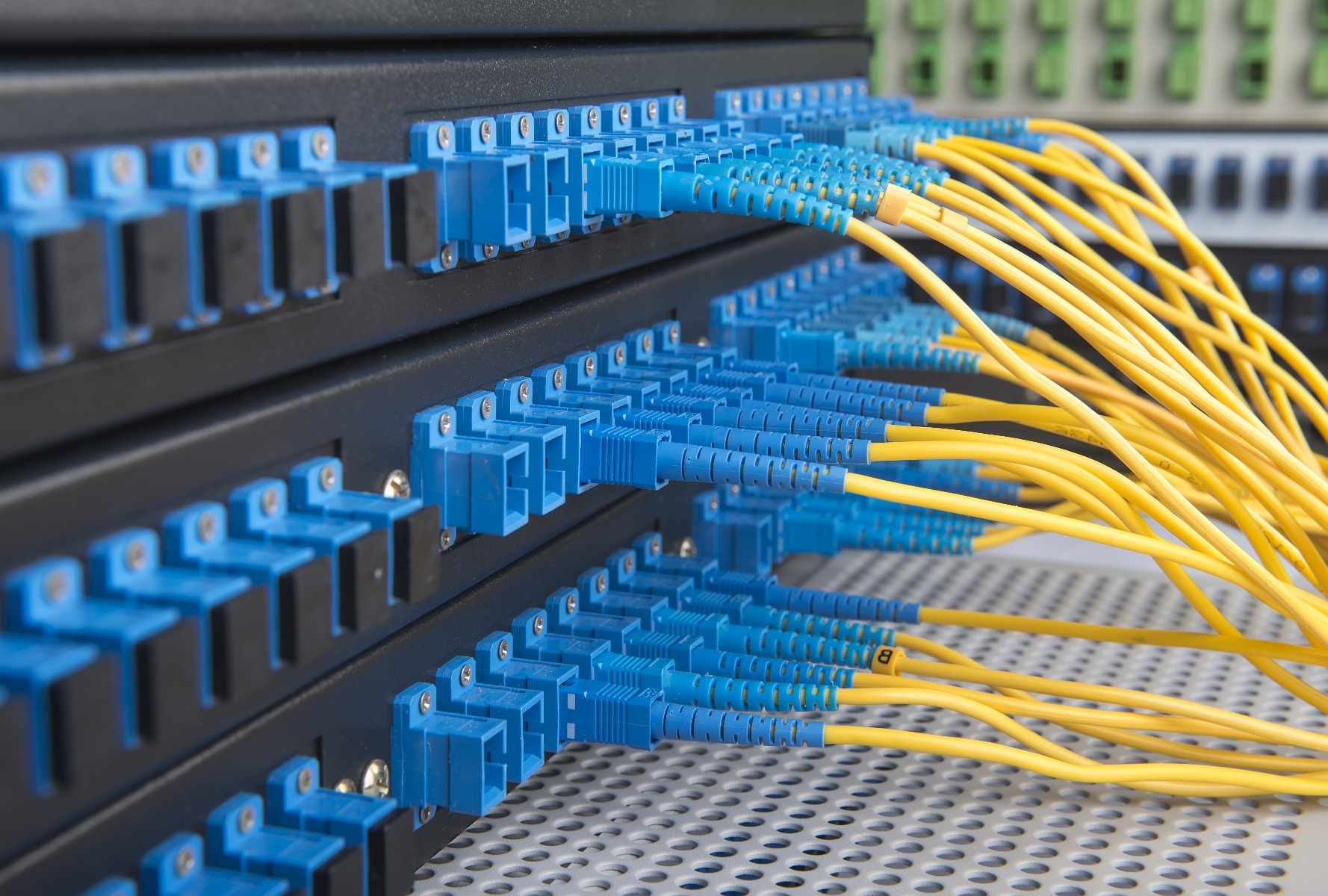 fiber cable in panel